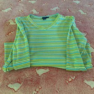 J Crew striped long sleeve t shirt size S